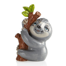Load image into Gallery viewer, The Ceramic Sloth Party Animal is a great party piece for painting and teaching. Did you know...  that sloths are clumsy on land, but are great swimmers. They are arboreal animals, so spend most of their time in trees. Sloths can live up to 30 years!