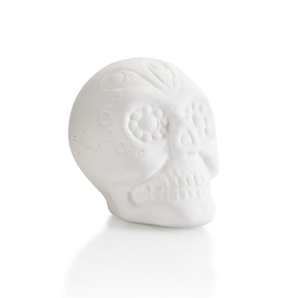 Our Sugar Skull Tiny Topper pottery painting piece is the cutest addition to any box, plate, platter, or more!  Perfect for holidays such as Dia de los Muertos or Day of the Dead celebrated on Oct. 31st.