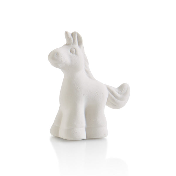 The Ceramic Unicorn Tiny Topper is the cutest addition to any box, plate, platter, or more!  Perfect for every holiday, season or occasion.  They're that extra little touch that makes all the difference.   Also paint it by itself attached to corks, magnets, gift boxes, and more!