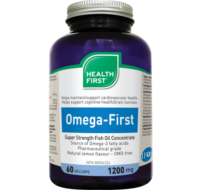 Health First Omega-First Super Strength Fish Oil - herbesthealth