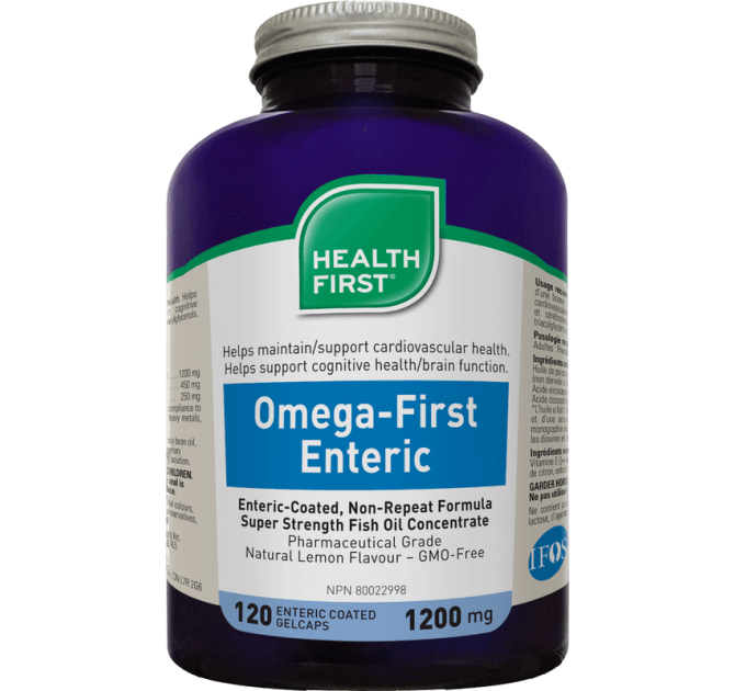 Health First Omega-First Enteric Super Fish Oil - herbesthealth