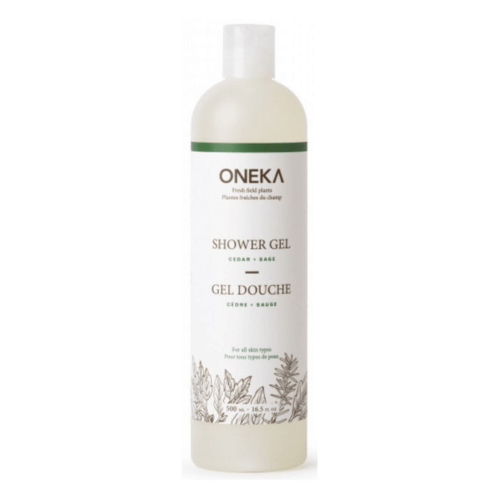 Oneka Cedar & Sage Shower Gel - herbesthealth