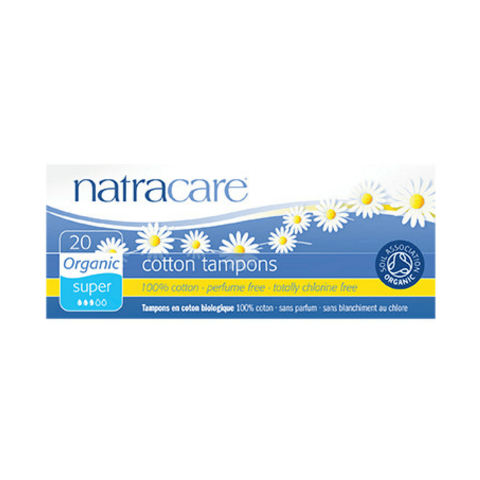 Natracare Super Non-Applicator Organic Cotton Tampons - herbesthealth
