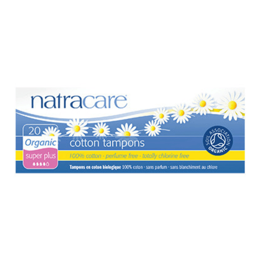 Natracare Super Plus Non-Applicator Organic Cotton Tampons - herbesthealth
