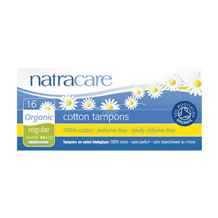 Natracare Regular Organic Cotton Tampons with Applicator - herbesthealth
