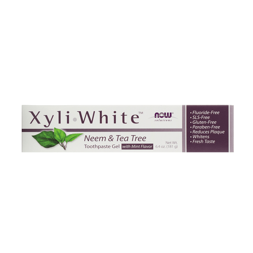 Now Xyliwhite Toothpaste Gel Neem & Tea Tree 181g — herbesthealth