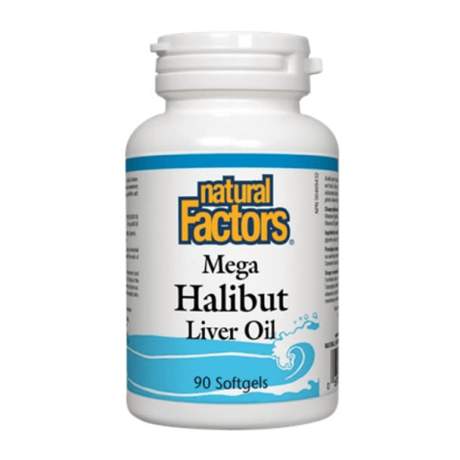 Natural Factors Mega Halibut Liver Oil 90 Softgels — herbesthealth