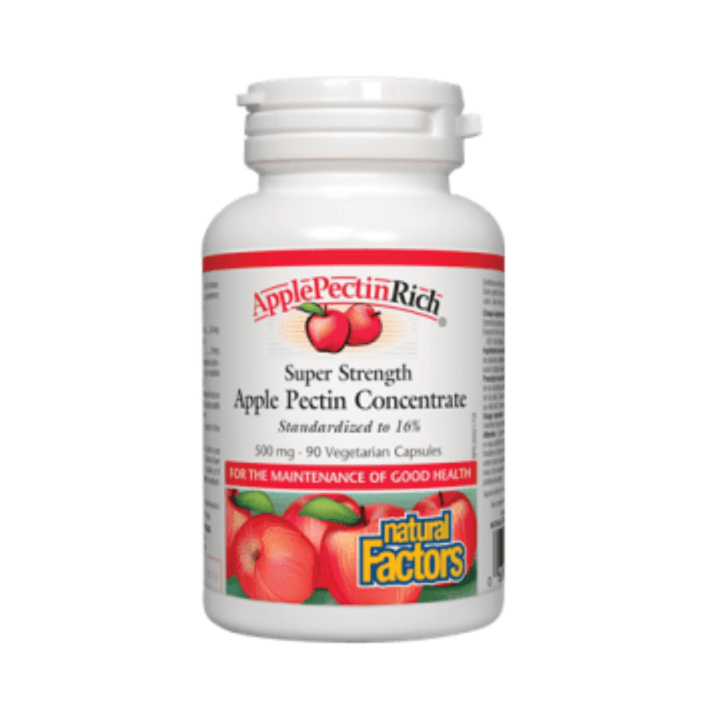 Natural Factors Apple Pectin Concentrate 500mg 90V-Caps — herbesthealth