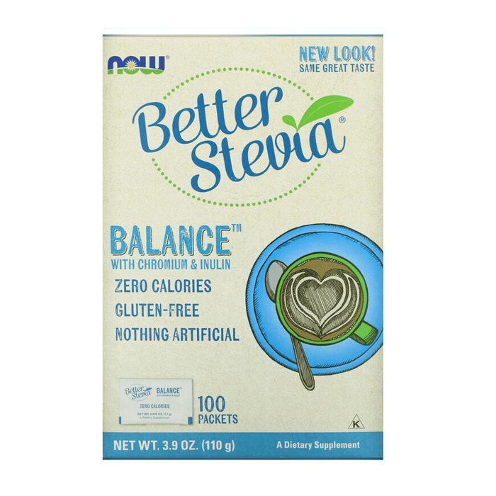 Now Better Stevia Balance Zero Calories 100 Packets 100g