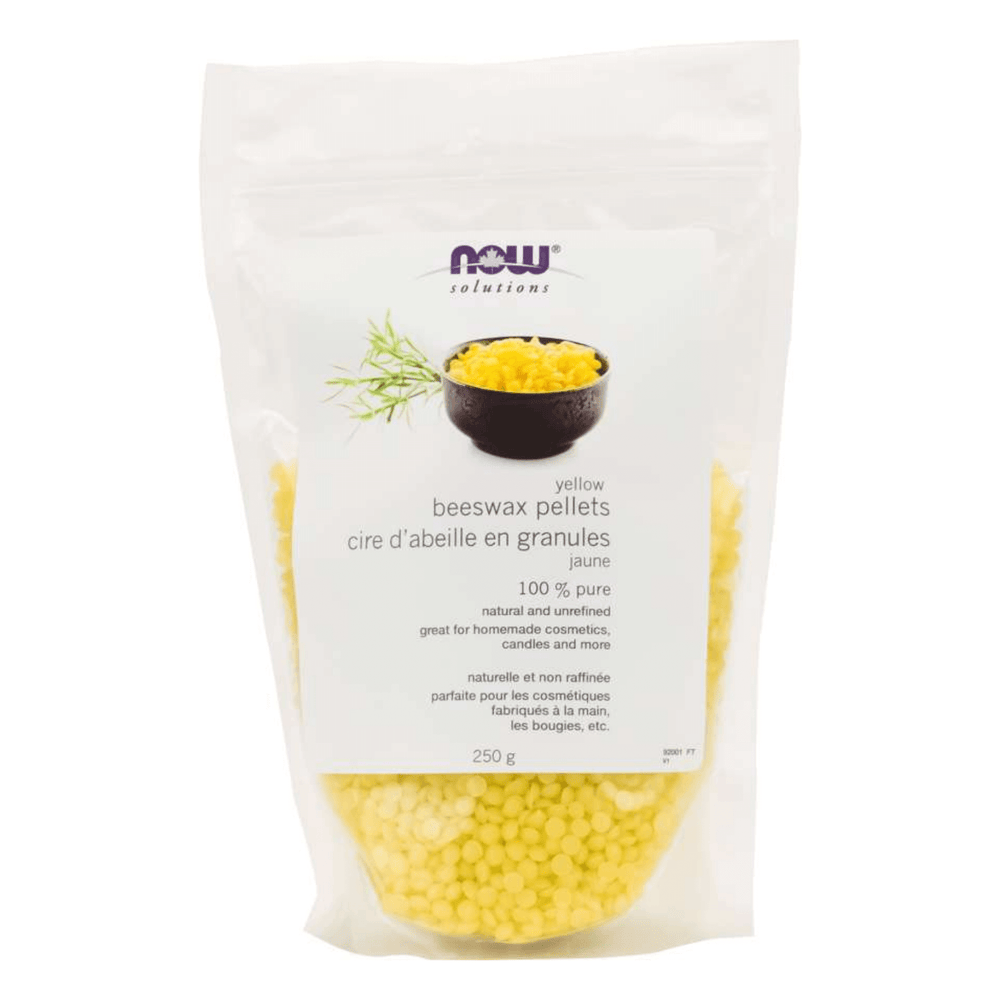 Now 100% Pure Yellow Beeswax Pellets 250g — herbesthealth