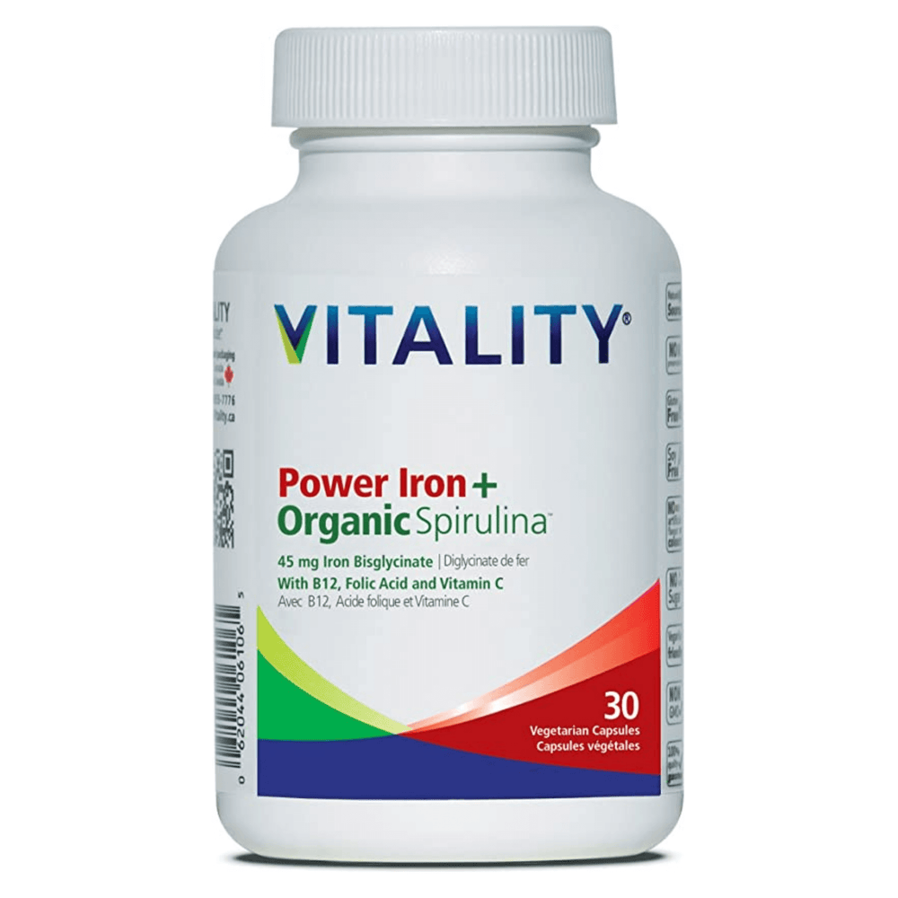 Vitality Power Iron + Organic Spirulina — herbesthealth