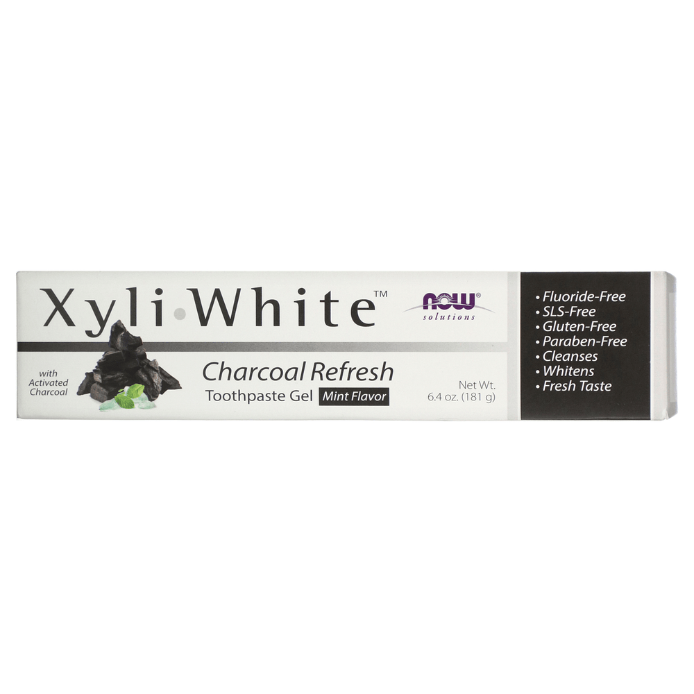 Now Xyliwhite Toothpaste Gel Charcoal Refresh 181g — herbesthealth
