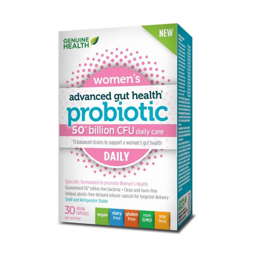 Genuine Health Advanced Gut Health Probiotic Women's Daily - 50 Billion CFU - herbesthealth