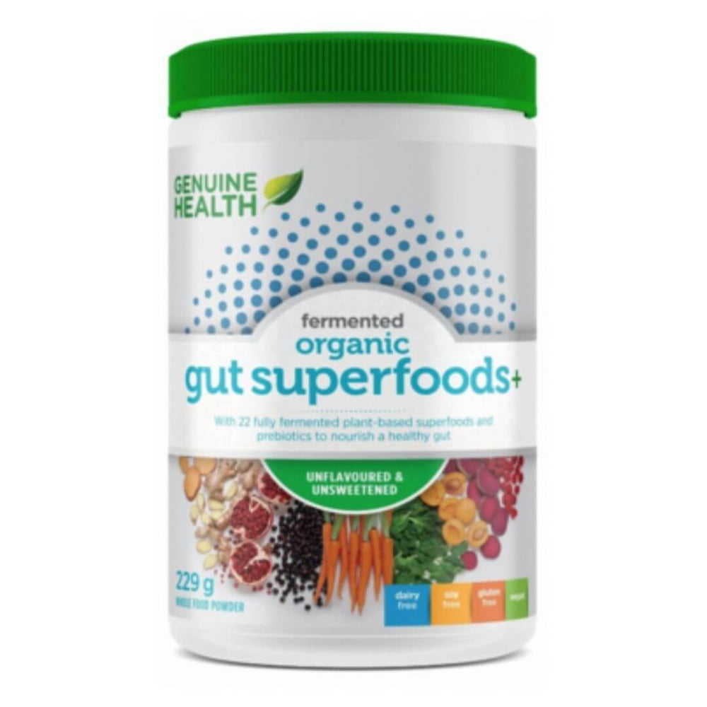 Genuine Health Fermented Organic Gut Superfoods+ Unflavoured & Unsweetened - herbesthealth