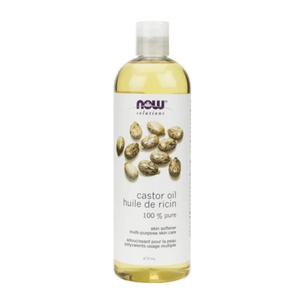 Now 100% Pure Castor Oil 473 mL — herbesthealth