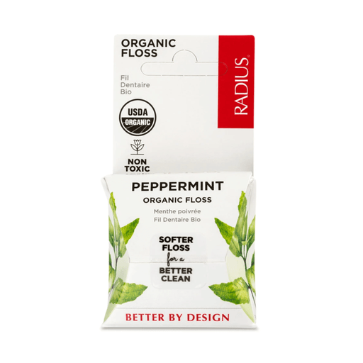 Radius Vegan Organic Floss Peppermint 55yds — herbesthealth