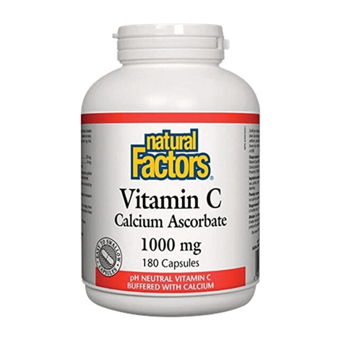 Natural Factors Calcium Ascorbate 1000mg 180 capsules - herbesthealth