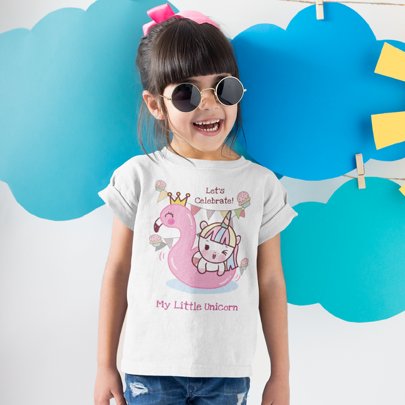 Kids Apparel - Lets Celebrate! Birthday Customizable T-Shirt Little Kids - Fantastic Gifts