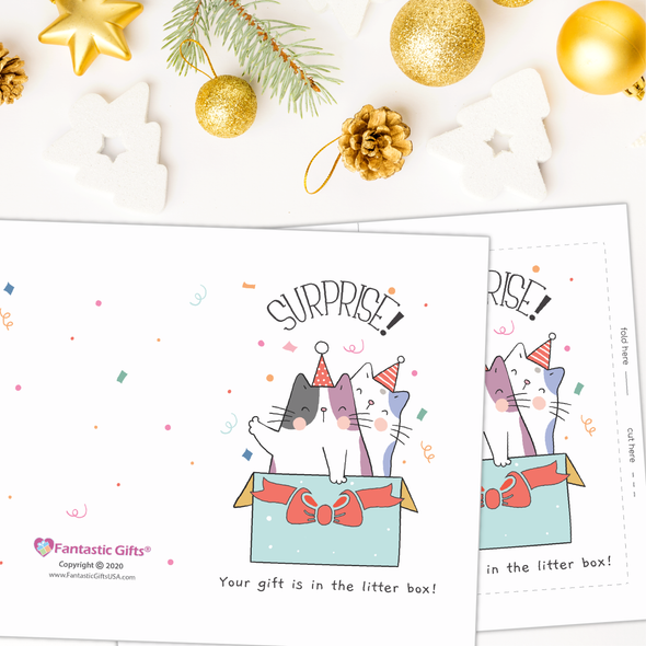 Digital Download - Surprise - Christmas Card - Fantastic Gifts