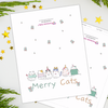 Digital Download - Merry Cats - Christmas Card - Fantastic Gifts