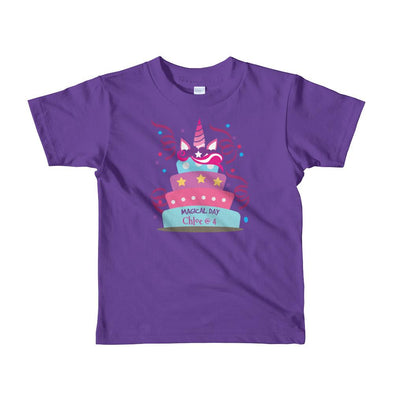 Magical Day T-Shirt For Little Kids Apparel Fantastic Gifts Purple 2yrs