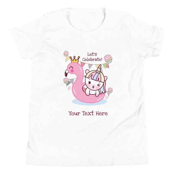 Kids Apparel - Let's Celebrate! Birthday CUSTOMIZABLE T-Shirt Big Kids - Fantastic Gifts
