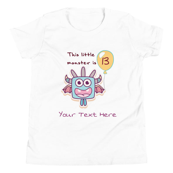 Kids Apparel - Little Monster Birthday CUSTOMIZABLE T-Shirt Big Kids - Fantastic Gifts