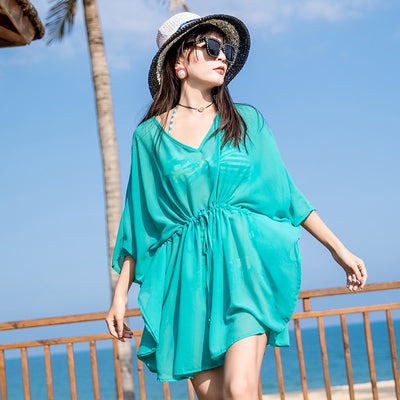 Holiday Travel Green Chiffon Shirt