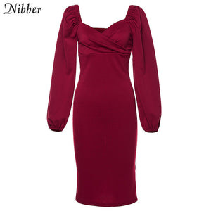 Off Shoulder Bodycon Dress For Women