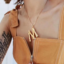 Load image into Gallery viewer, Initial Letters Necklace Women Gold Color Chain 2019 Fashion Long Necklaces Big Pendant Boho Statement Necklace Collier Femme