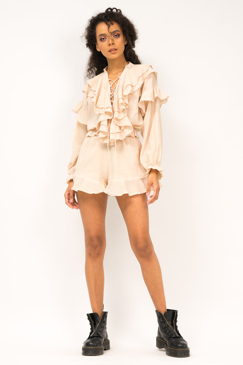 Blouse and shorts set