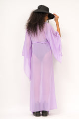 Straight cut kaftan with fastening in front
