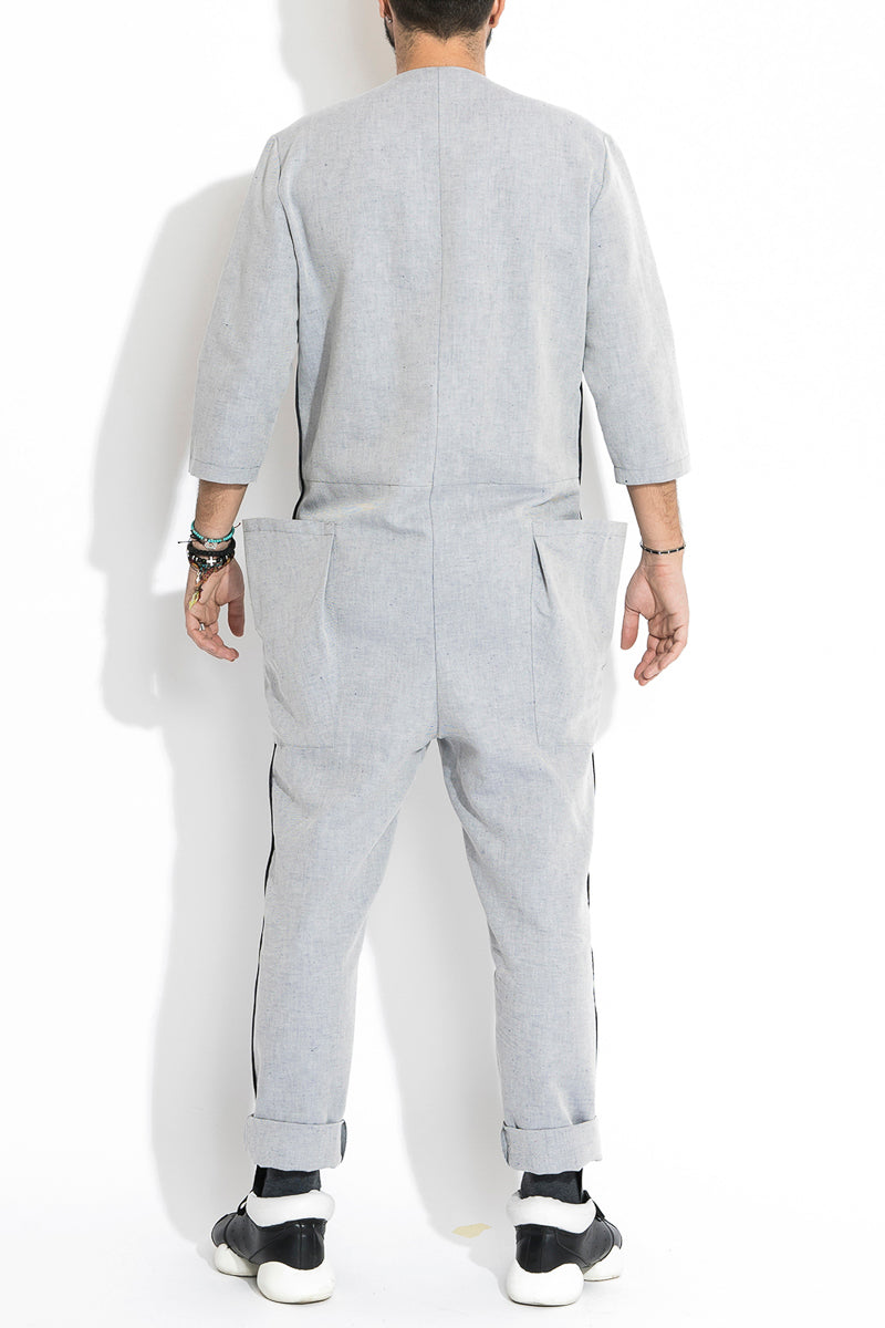 Salopeta din in ANDROGYNY man gray