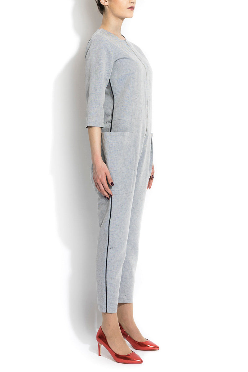 Salopeta din in ANDROGYNY woman gray