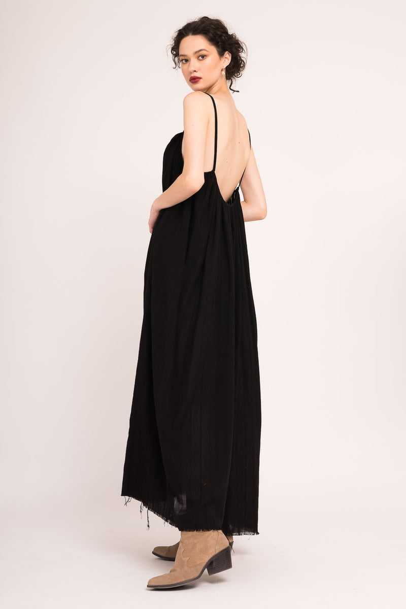 Black Maxi Dress With Spaghetti Straps