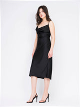 Slip dress negru