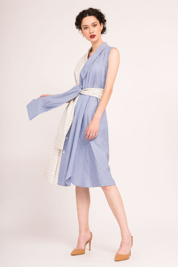 Sleveless midi dress in two colors