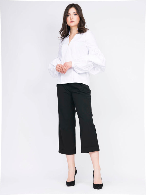 Cotton-poplin top