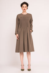 Shift dress with ruching details