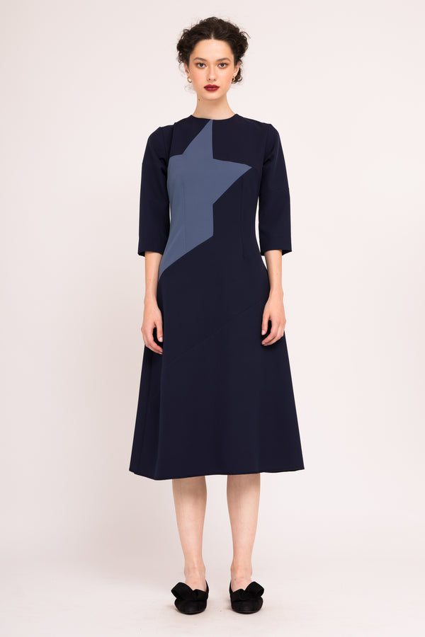 A-line dress with contrasting star detail