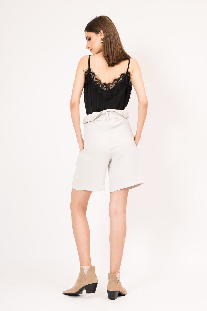 Top with embroidered lace
