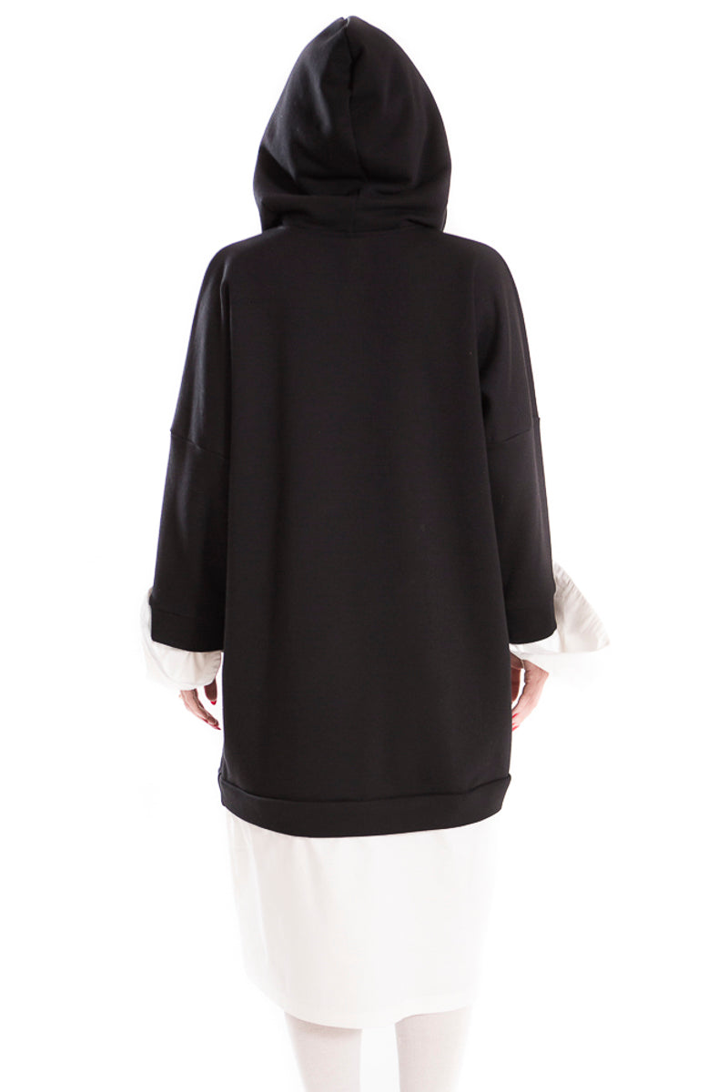 Unisex monk hoodie - ANDROGYNY woman sizes