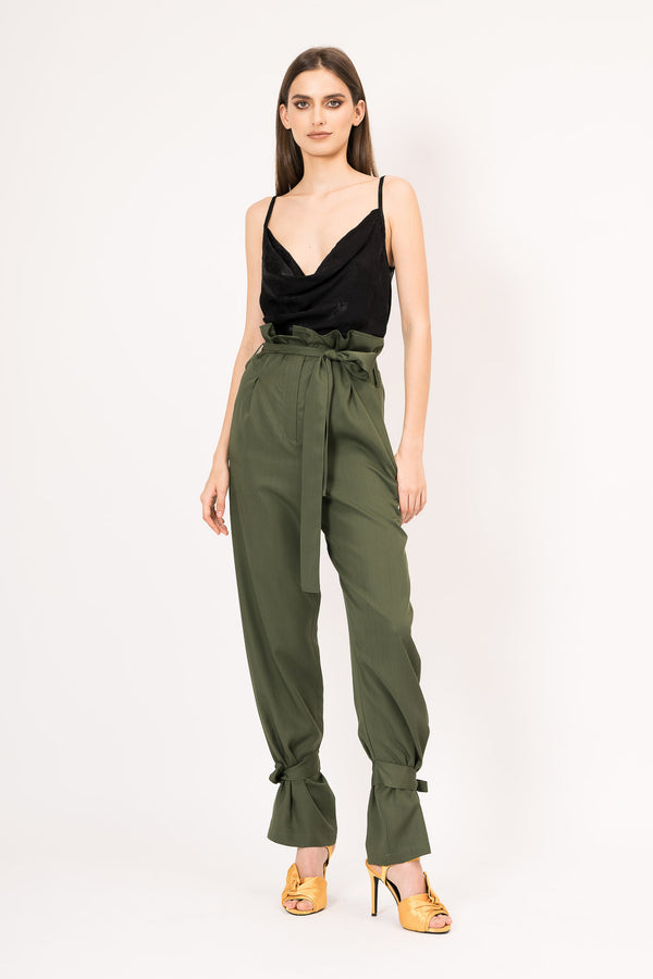 Khaki high waist pants
