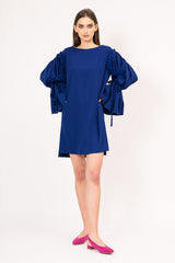 Puffed sleeves mini dress