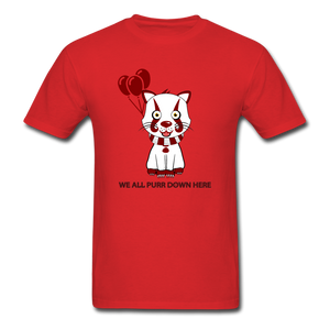 Kittywise (IT Inspired) Halloween T-Shirt - red