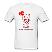Load image into Gallery viewer, Kittywise (Pennywise IT inspired) Halloween T-Shirt Bright - white
