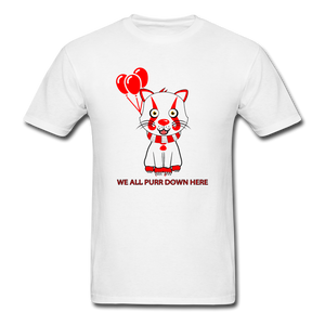 Kittywise (Pennywise IT inspired) Halloween T-Shirt Bright - white
