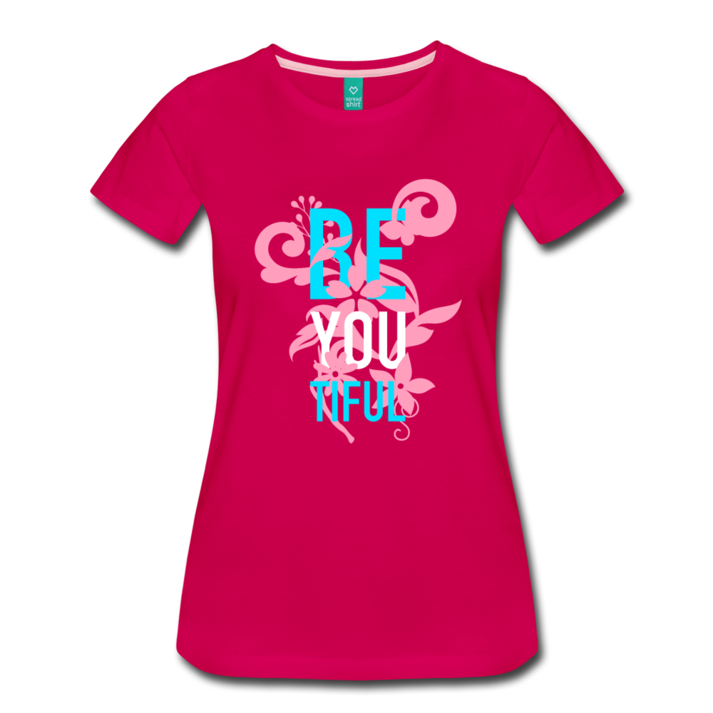 BE YOU TIFUL Women's Cut T-Shirt Transgender Pride Colors - BravoPapa Clothing