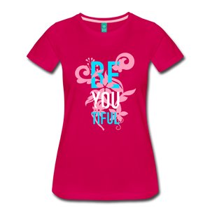 BE YOU TIFUL Women's Cut T-Shirt Transgender Pride Colors - dark pink