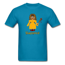 Load image into Gallery viewer, Slayoncé (Beyonce Parody)Halloween T-Shirt - turquoise